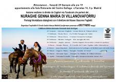 Madrid: 29 gennaio – il Nuraghe Genna Maria